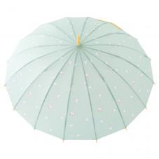 Paraguas grande verde - Estampado unicornios