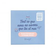 Jeu de cartes - 100 questions pour toi et moi seulement
