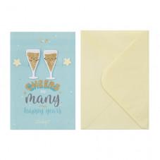 Greetings card – Cheers to plenty of happy years