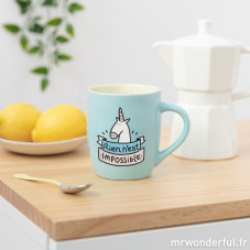 Mug pastel - Rien n'est impossible