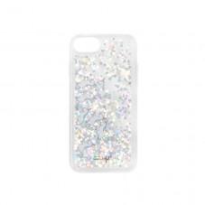 Coque transparente à paillettes pour iPhone 6/7/8 - Licornes