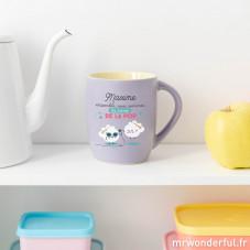 Mug personnalisé couleur mauve