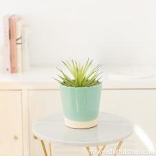 Cache-pot turquoise en céramique