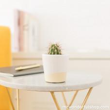 Cache-pot blanc en céramique