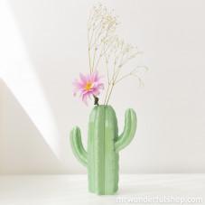 Vase décoratif en forme de cactus