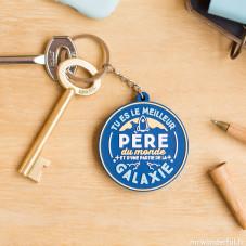 Porte-clés caoutchouc - Pour les pères en or (FR)
