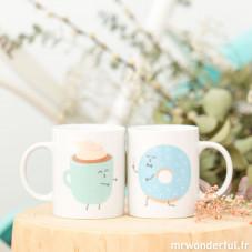 Lot de 2 mugs - Ils furent heureux et ils prirent ensembletous leurs petits déjeuners (FR)