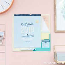 Calendrier familial 2018 - En famille, en 2018 ça va rouler pour nous (FR)