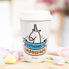 "Mug take away ""Nothing is impossible"" (ENG)"