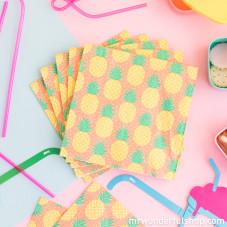 Lot de 20 serviettes en papier - Ananas