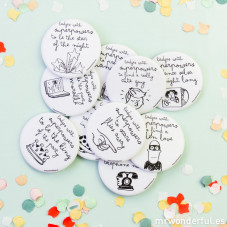 Badges aux super-pouvoirs pour vos fêtes  (ENG)