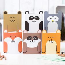 Cartes en forme d'animaux - 6 modèles