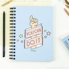 Cahier en couleur - You can do it (ENG)