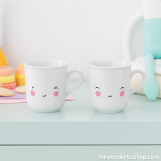 Lot de 2 tasses pour enfants - Happy