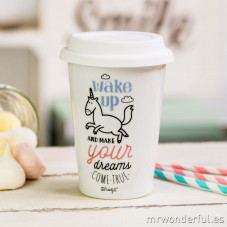 Mug take away - Wake up and make your dreams come true (ENG)