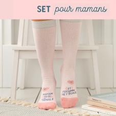 Set cadeau pour les mamans coquettes avec des chaussons taille 36-38