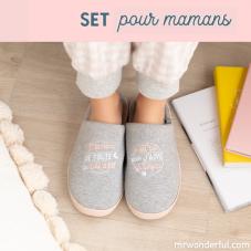 Set cadeau maman spécial cocooning avec des chaussons taille 36-38