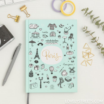 Carnet Lovely Streets - Sketch the world Paris