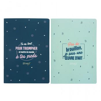 Set de 2 cahiers A4