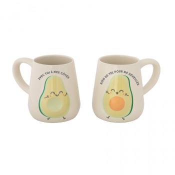 Lot de 2 mugs - Avec toi à mes côtés