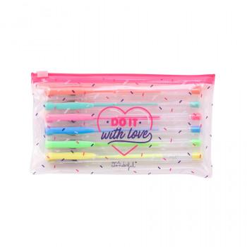 Set de 6 stylos de couleurs - Do it with love