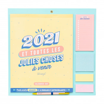 Calendrier mural 2021 Mr. Wonderful