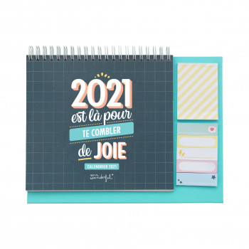 Calendrier de bureau 2021 Mr. Wonderful
