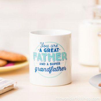 "Mug ""You are a great father and a super grandfather"" (ENG)"