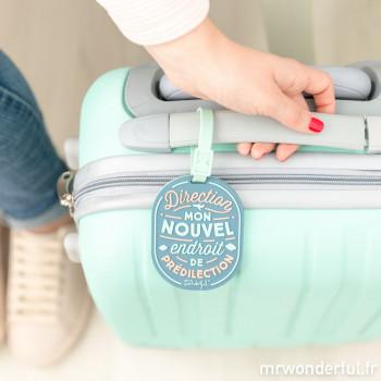 Étiquette de bagage - Direction: mon nouvel endroit de prédilection (FR)