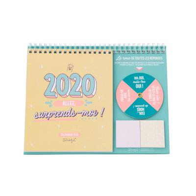 Calendrier de bureau - 2020, allez, surprends-moi !