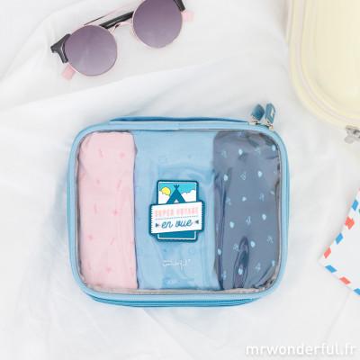 Trousse à petits sacs de voyage - Super voyage en vue (FR)
