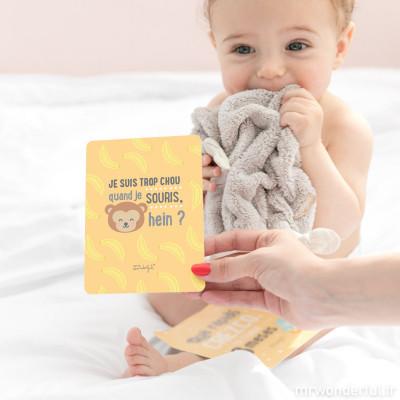 Cartes personnalisables pour bébés - Ma première année en photos (FR)
