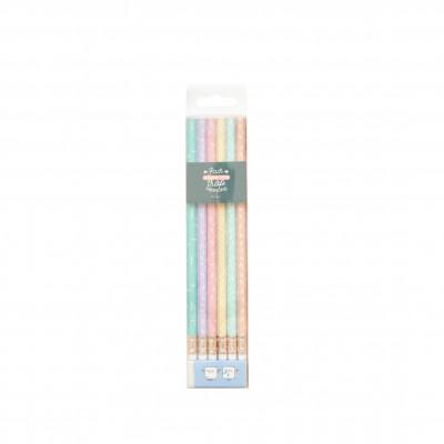 Pack de 6 crayons super mignons (FR)