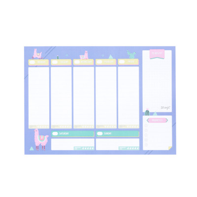 Planner avec autocollants - Lama Collection