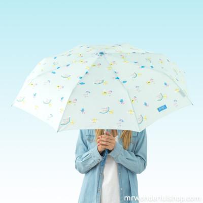Parapluie moyen format mint - imprimé arc-en-ciel (FR)