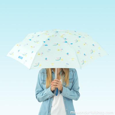 Parapluie petit format mint - imprimé arc-en-ciel (FR)