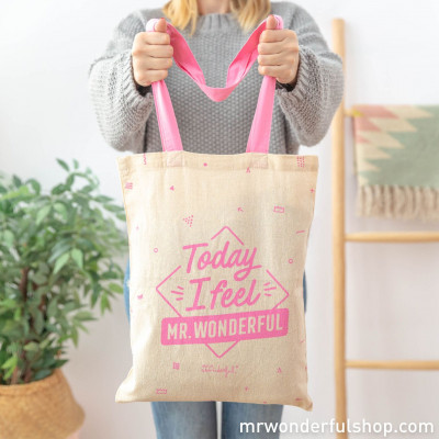 Tote bag en cadeau - Today I feel Mr.Wonderful