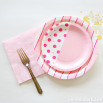 Assiettes en carton grand format - rose