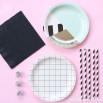 Assiettes carton petit format - mint