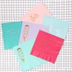 Serviettes papier couleur mint  - Ice cream
