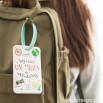 Étiquette pour bagage - Voy a vivir un millón de aventuras