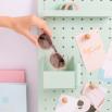 Gafas de sol Trendy inyección - Rosa claro + habana rosa