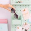Gafas de sol Trendy inyección + metal hexagonales - Habana rosa + oro Gafas de sol Trendy inyección + metal hexagonales - Habana rosa + oro