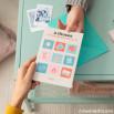 Carte avec messages secrets - 9 choses que j'aime...