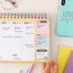 Planning semainier - C'est ici que commencent les rêves réalisés