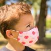 Pack de 2 masques en tissu Enfants - Licornes et cœurs
