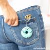 Porte-clés beignet - Avec toi, tout est mieux