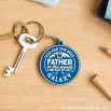 Porte-clés en caoutchouc - For great fathers (ENG)