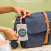 Étiquette de bagage - Je veux parcourir le monde (FR)