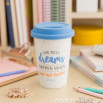 """Mug take away """"The best dreams happen when you wake up"""" (ENG)"""